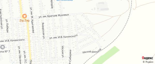 Улица им Ф.Э.Дзержинского на карте Троицка с номерами домов