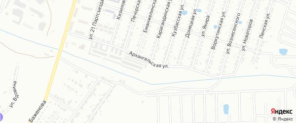 Архангельская улица на карте Копейска с номерами домов