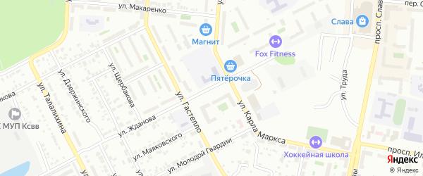 Улица Жданова на карте Копейска с номерами домов