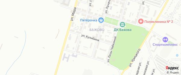 Улица Кулибина на карте Копейска с номерами домов