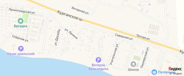 Солнечная улица на карте Петровского поселка с номерами домов