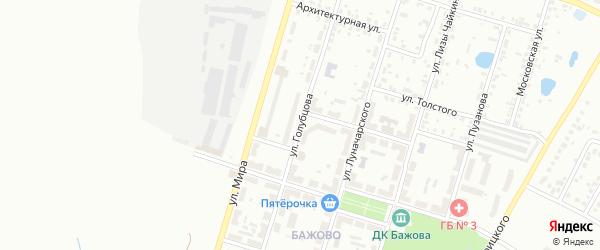 Улица Голубцова на карте Копейска с номерами домов
