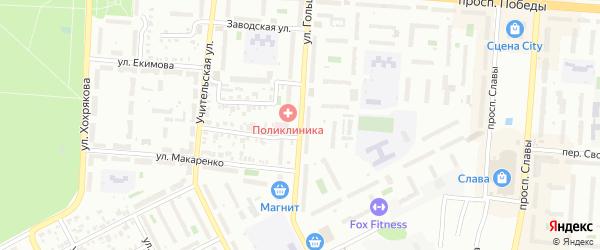Улица Гольца на карте Копейска с номерами домов