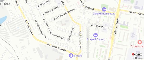 Солнечная улица на карте Копейска с номерами домов