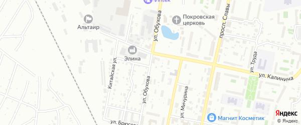 Улица Обухова на карте Копейска с номерами домов