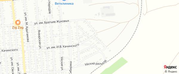 Улица им Клары Цеткин на карте Троицка с номерами домов