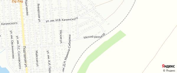 Уйский разъезд на карте Троицка с номерами домов