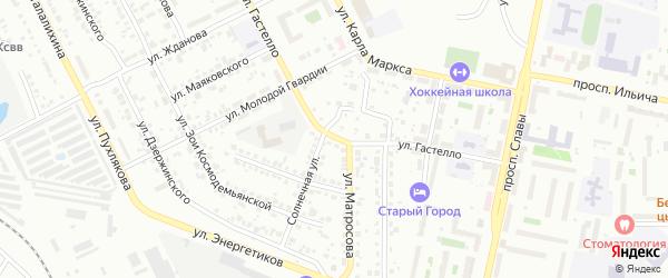 Улица Гастелло на карте Копейска с номерами домов