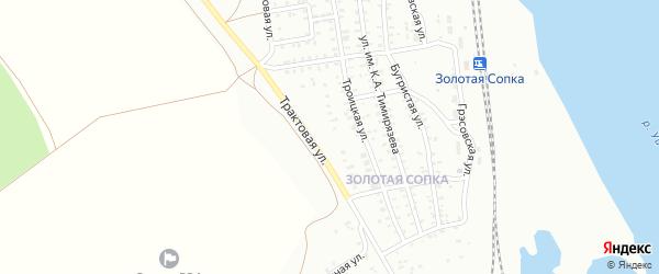 Трактовая улица на карте Троицка с номерами домов