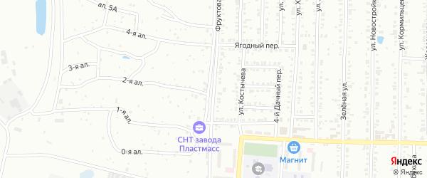 Фруктовая улица на карте Копейска с номерами домов