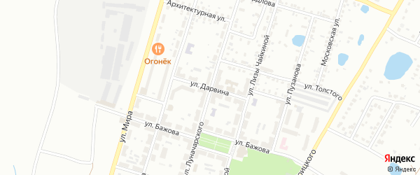Улица Дарвина на карте Копейска с номерами домов