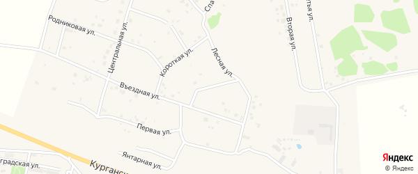Зелёная улица на карте Петровского поселка с номерами домов