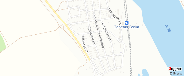 Троицкая улица на карте Троицка с номерами домов
