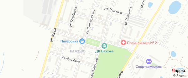 Улица Бажова на карте Копейска с номерами домов