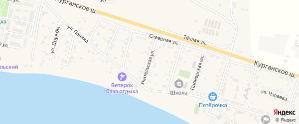 Учительская улица на карте Петровского поселка с номерами домов