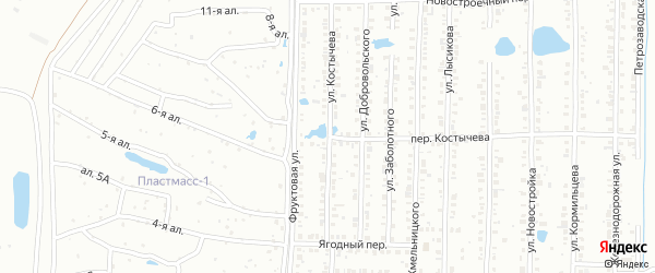 Улица Костычева на карте Копейска с номерами домов