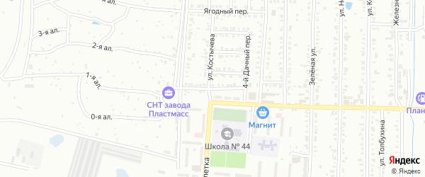 Огородный 1-й переулок на карте Копейска с номерами домов