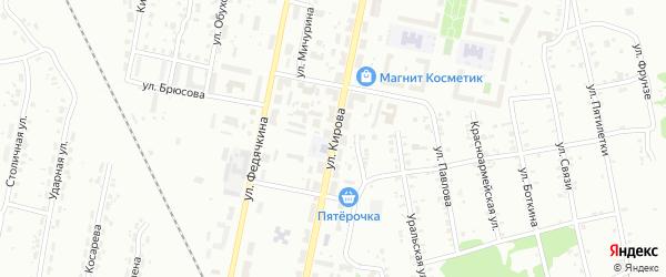 Улица Кирова на карте Копейска с номерами домов