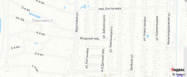 Ягодный переулок на карте Копейска с номерами домов