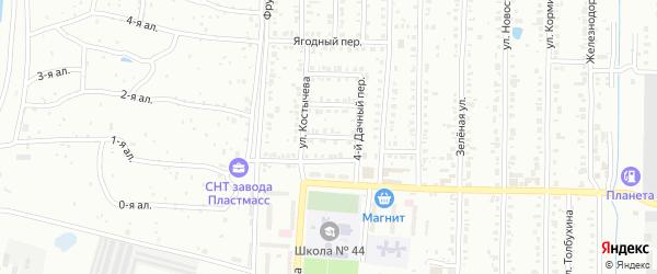 Дачный 2-й переулок на карте Копейска с номерами домов