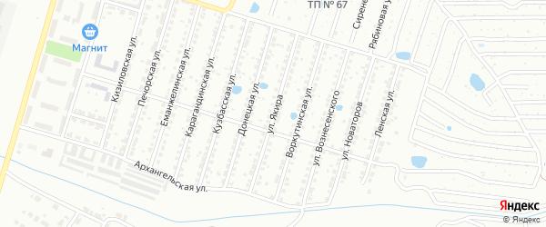 Улица Якира на карте Копейска с номерами домов