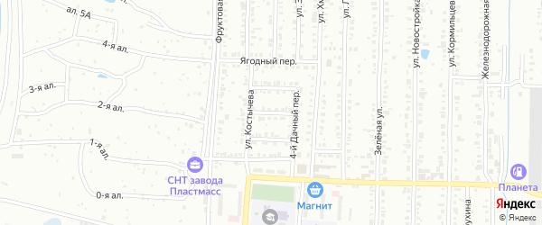 Дачный 3-й переулок на карте Копейска с номерами домов