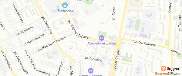 Улица Карла Маркса на карте Копейска с номерами домов