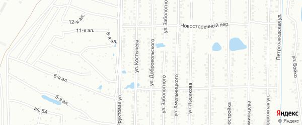 Улица Добровольского на карте Копейска с номерами домов