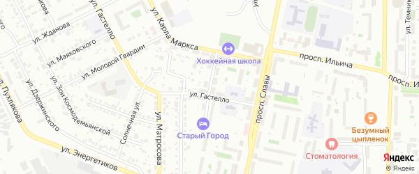 Майская улица на карте Копейска с номерами домов