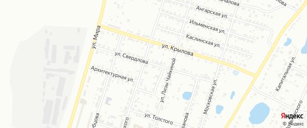 Улица Свердлова на карте Копейска с номерами домов