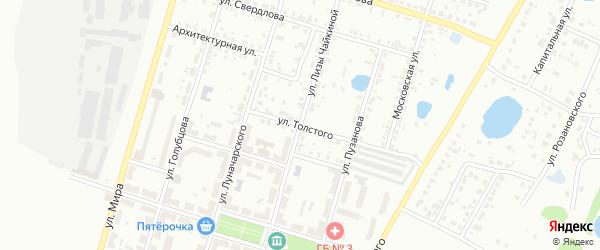 Улица Лизы Чайкиной на карте Копейска с номерами домов
