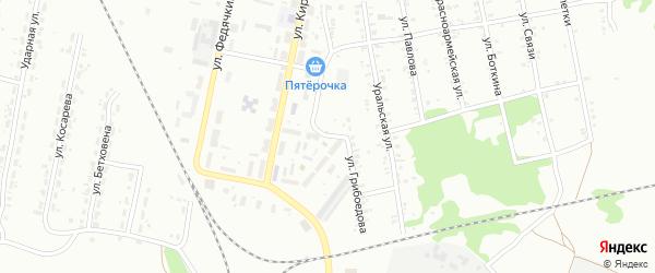 Улица Грибоедова на карте Копейска с номерами домов