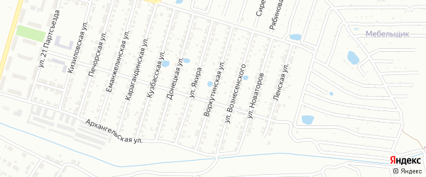 Воркутинская улица на карте Копейска с номерами домов