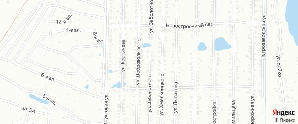 Улица Заболотного на карте Копейска с номерами домов