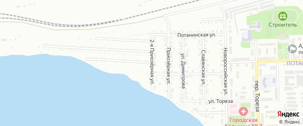 Приозерная 2-я улица на карте Копейска с номерами домов
