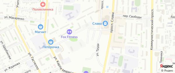 Улица Чаадаева на карте Копейска с номерами домов