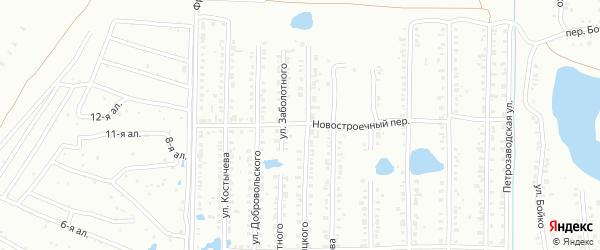 Переулок Новая Заря на карте Копейска с номерами домов