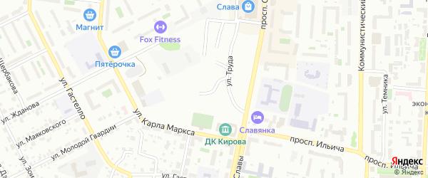 Улица Горького на карте Копейска с номерами домов