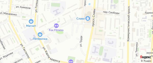 Пролетарская улица на карте Копейска с номерами домов
