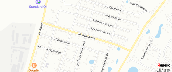Улица Крылова на карте Копейска с номерами домов