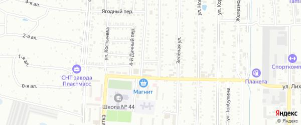 Дачный переулок на карте Копейска с номерами домов