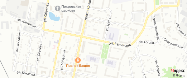 Улица Калинина на карте Копейска с номерами домов