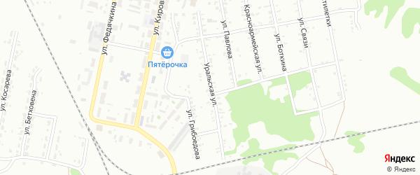 Уральская улица на карте Копейска с номерами домов