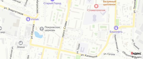 Переулок Маяк на карте Копейска с номерами домов