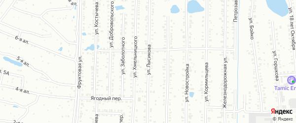 Улица Лысикова на карте Копейска с номерами домов