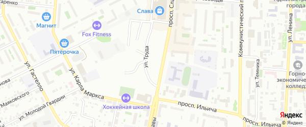 Советская улица на карте Заозерного поселка с номерами домов