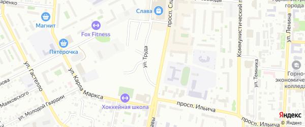 Советская улица на карте Копейска с номерами домов