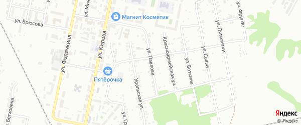 Улица Павлова на карте Копейска с номерами домов