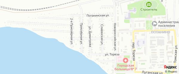 Улица Димитрова на карте Копейска с номерами домов
