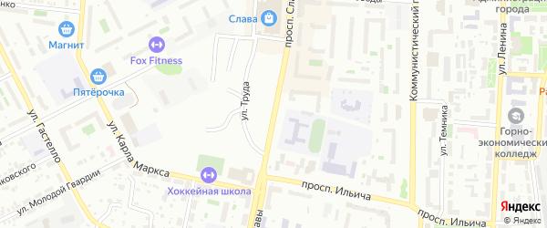 Проспект Славы на карте Копейска с номерами домов